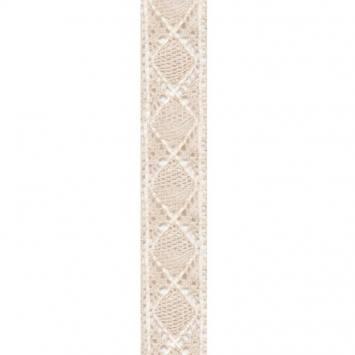 Ruban dentelle coton et lin 40mm