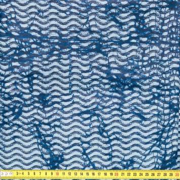 Wax - Tissu africain vague bleu 207