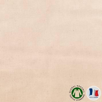 Flanelle de coton bio naturelle