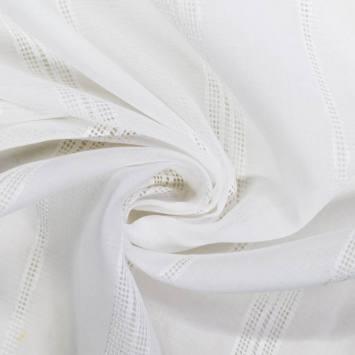 Voilage blanc trait perforé verticale 90cm