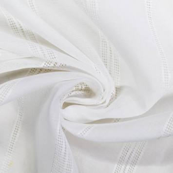 Voilage blanc trait perforé verticale 150cm