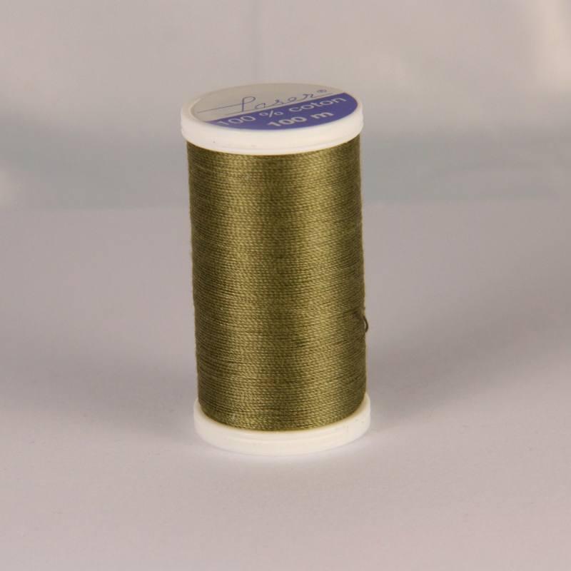 Fil coton laser vert kaki 3736