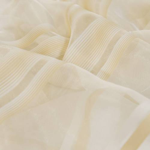 Voilage beige rayures verticales grande largeur