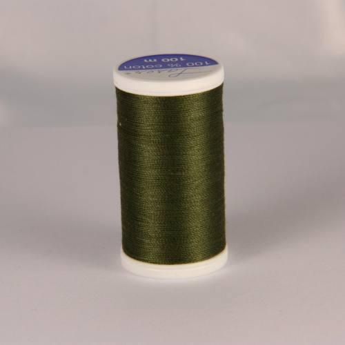 Fil coton laser kaki foncé 3746