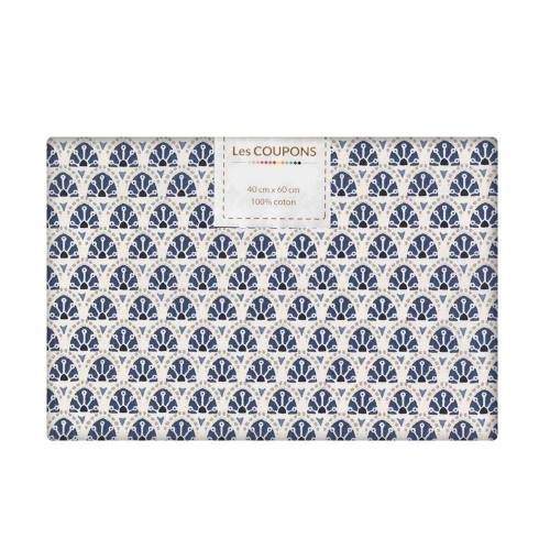 Coupon 40x60 cm coton bleu manco