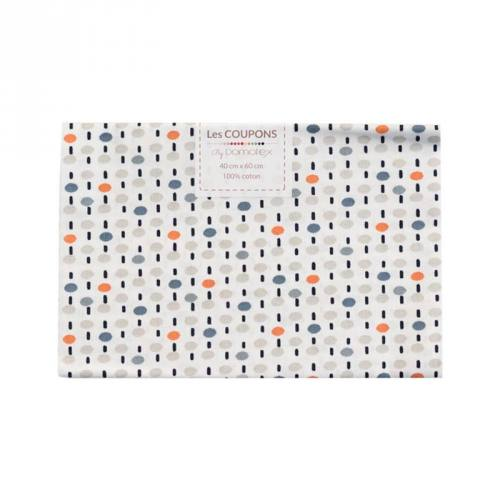 Coupon 40x60 cm coton orange pitt