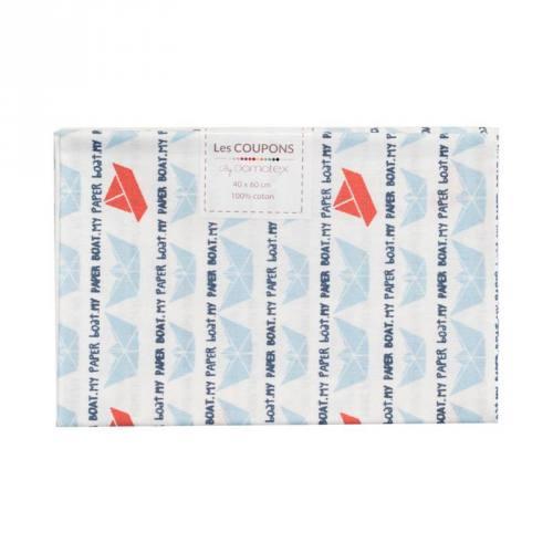 Coupon 40x60 cm coton bleu Lovboat