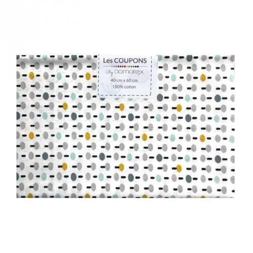 Coupon 40x60 cm coton jaune pitt