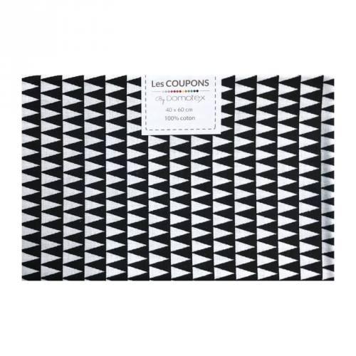 Coupon 40x60 cm coton noir kano