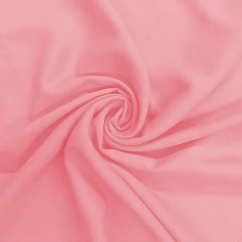 Tissu viscose uni rose