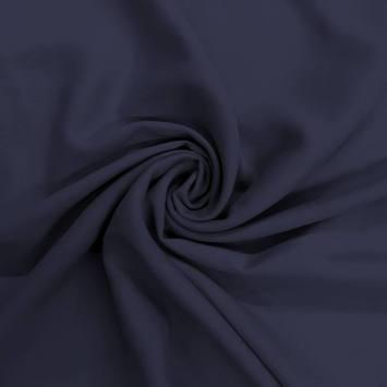 Tissu viscose uni bleu marine