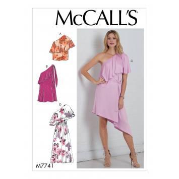 Patron McCall's M7741 : Haut, robes et ceinture 42-50