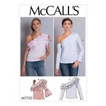Patron McCall's M7753 : Hauts pour femme 42-50