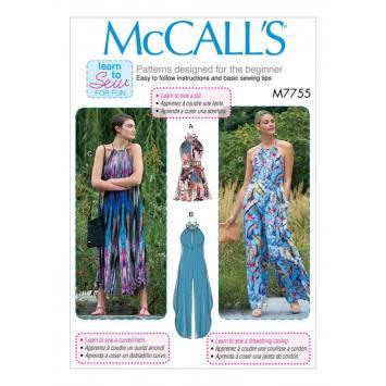 Patron McCall's M7755 : Combinaison pour femme 44-50