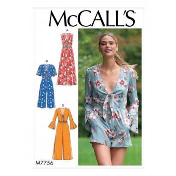 Patron McCall's M7756 : Combinaison pour femme 42-50