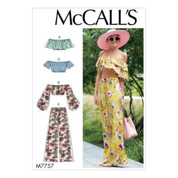 Patron McCall's M7757 : Ensemble haut et pantalon 44-50