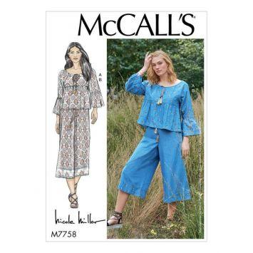 Patron McCall's M7758 : Haut et pantalon 34-42
