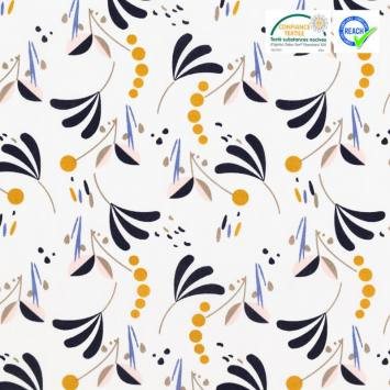 Coton blanc motif howell