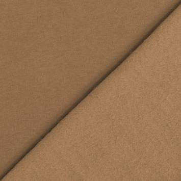 Tissu molleton uni cappuccino