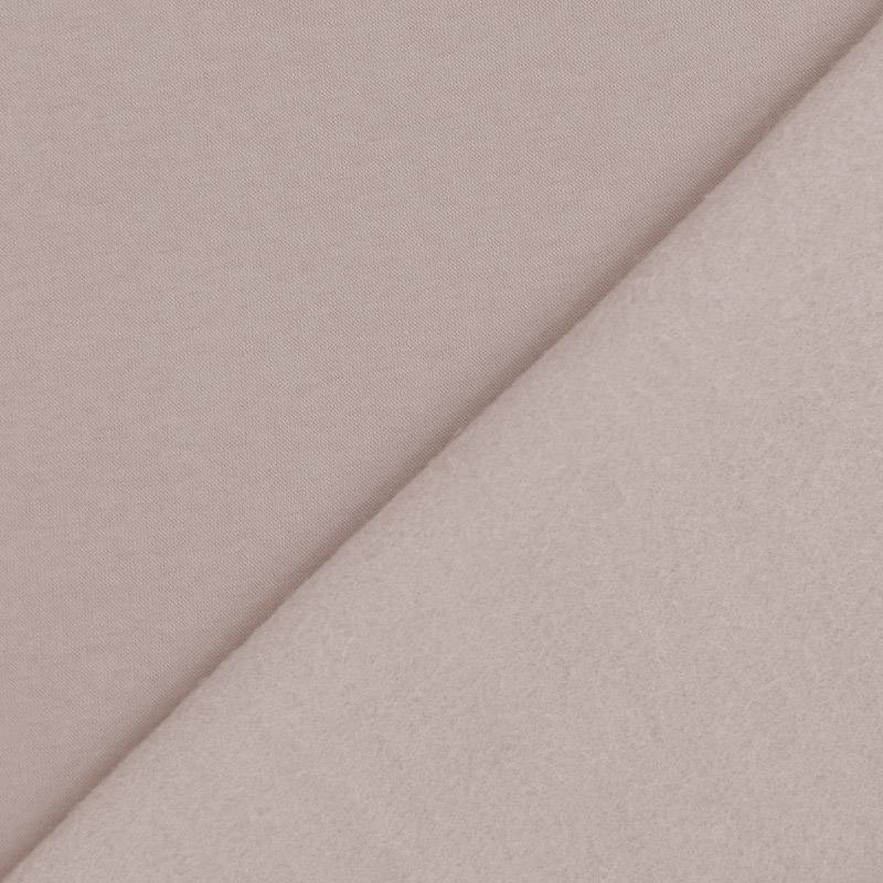 Tissu molleton uni grège