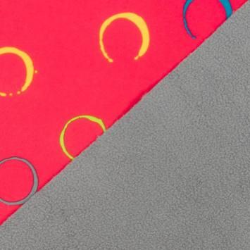 Tissu softshell rose motif cercle