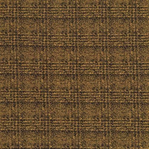 Jersey lainage ocre foncé motif carreaux