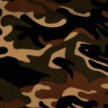 Polaire imprimée camouflage vert