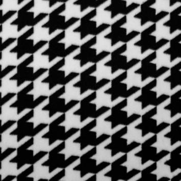 Polaire blanche motif pied de coq noir