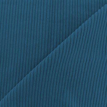 Velours côtelé bleu denim