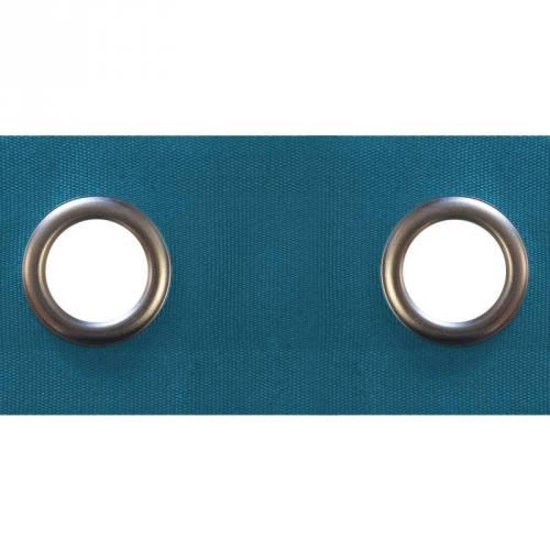 Bande à oeillets 3 cm rideaux bleu canard