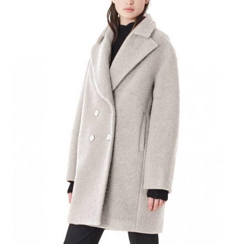 Tissu lainage gris beige chiné noir