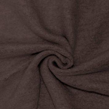 Tissu lainage marron