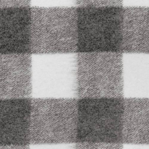 Tissu lainage carreaux gris et blancs