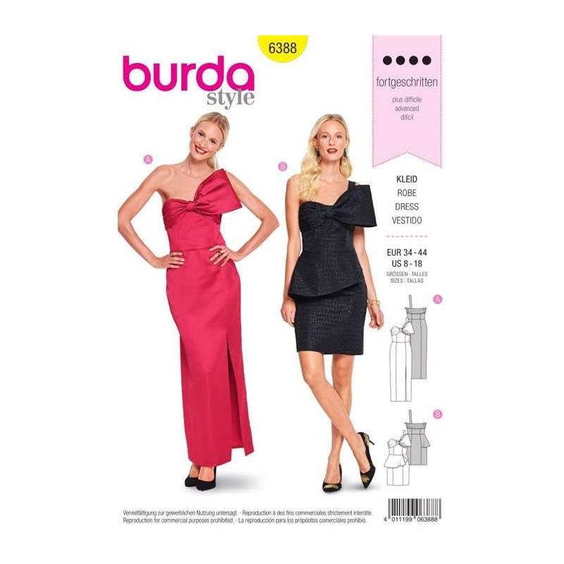 Patron Burda 6388 : Robe Taille 34-44
