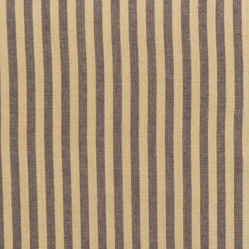 Toile coton effet tissé rayures graphite et lin