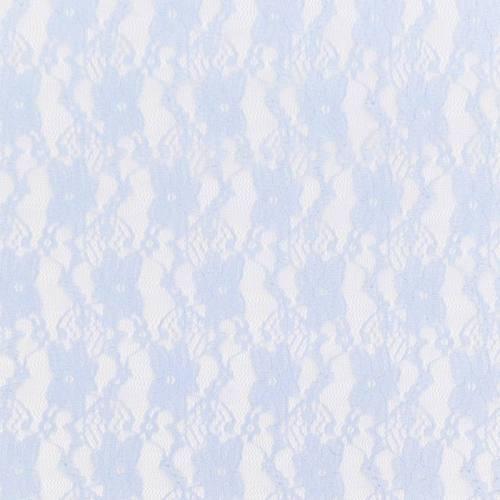 Dentelle extensible bleu ciel motif fleur pensée