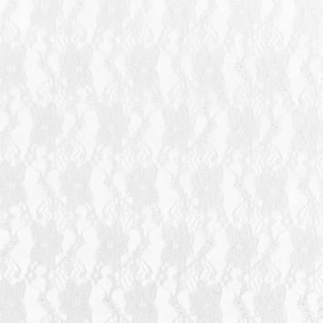Dentelle extensible blanche motif fleur pensée
