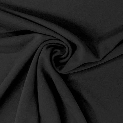 Tissu scuba crêpe uni noir
