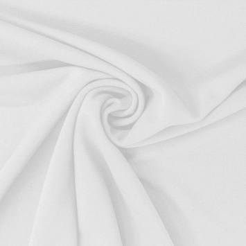 Tissu scuba crêpe uni blanc
