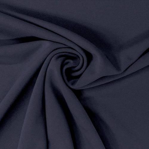 Tissu scuba crêpe uni bleu marine