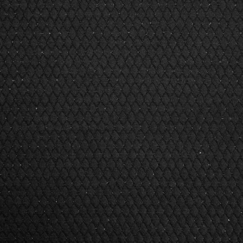 Maille gaufrée noire paillettes argent