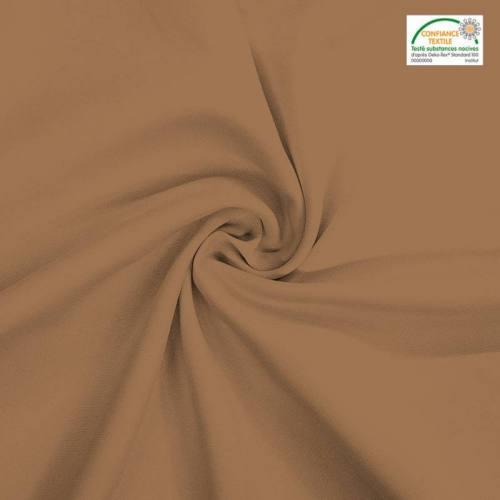 Rouleau 25m burlington infroissable Oeko-tex camel clair