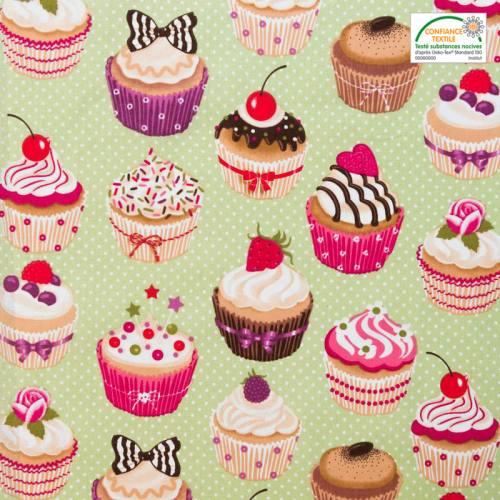 Coton vert décoration de cuisine cupcakes