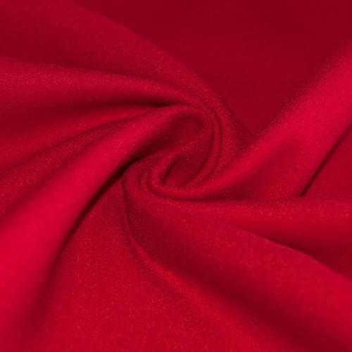 Tissu lainage uni rouge