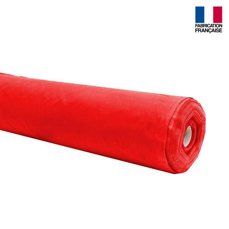 Rouleau 20m toile coton ignifugée M1 rouge