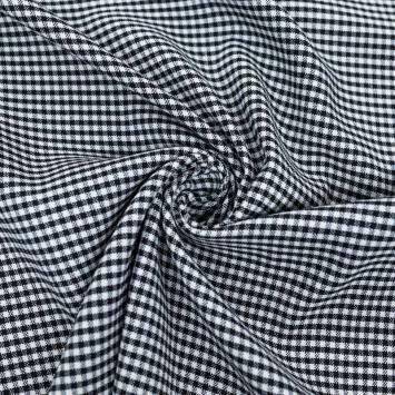 Tissu lainage vichy noir