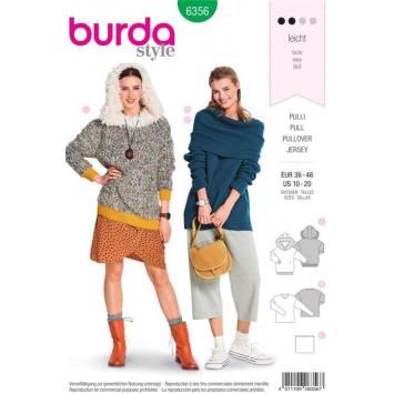 Patron Burda 6356: Pull Taille 36-46