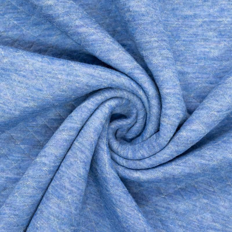 Tissu molleton matelassé bleu ciel