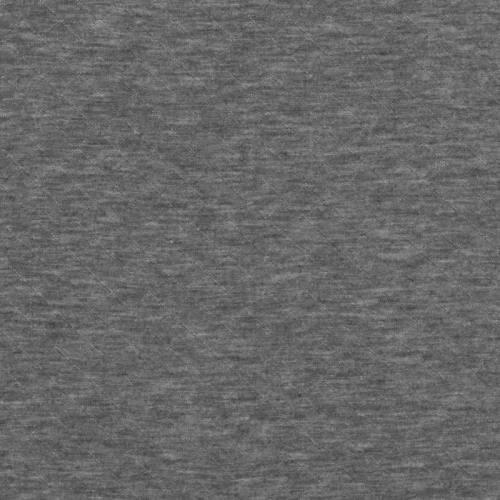 Jersey matelassé gris foncé chiné