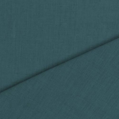 Tissu lin bleu canard